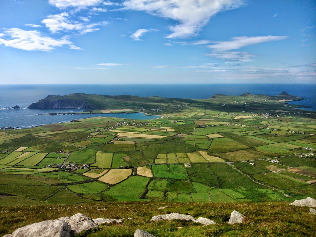 View of Ferriter's Cove from the top of Cruach Mharthain (Croagh Marhin)